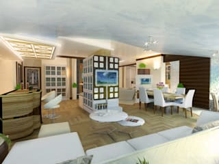 Living room by Baldantoni Group