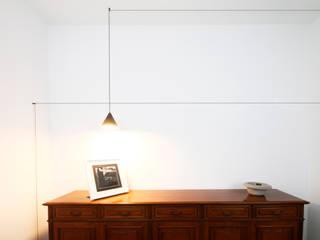 Andrea Orioli Couloir, entrée, escaliers minimalistes Blanc