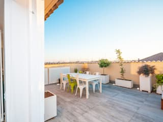Ristrutturazione appartamento 50 mq Fabiola Ferrarello Industrial style balcony, veranda & terrace Metal Multicolored