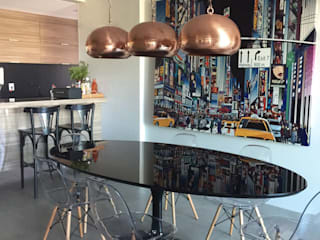 Comedor de estilo  por Cia de Arquitetura