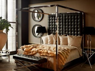 Conexo. BedroomBeds & headboards Leather Black