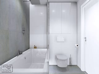 ŁAZIENKA W SOSNOWCU Nowoczesna łazienka od SKAZANI NA DESIGN Studio Architektury Nowoczesny