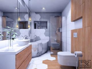 ŁAZIENKA W GLIWICACH Nowoczesna łazienka od SKAZANI NA DESIGN Studio Architektury Nowoczesny