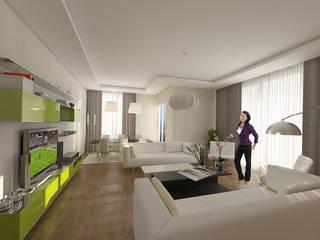 BAKIRKÖY KONUT BLOĞU Modern Oturma Odası Pronil Modern
