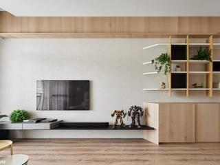 Minimalistische Wohnzimmer von 思維空間設計 Minimalistisch