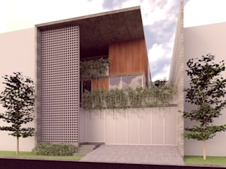 Lozano Arquitectos Maisons minimalistes Béton Gris