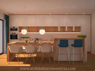 Modern style kitchen by Projektowanie wnętrz Oliwia Drobnicka Modern