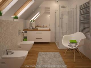 Modern style bathrooms by Projektowanie wnętrz Oliwia Drobnicka Modern