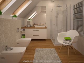 Moderne Badezimmer von Projektowanie wnętrz Oliwia Drobnicka Modern