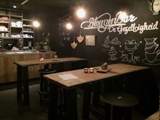 Sooph Interieurarchitectuur Industriële bars & clubs Hout Zwart