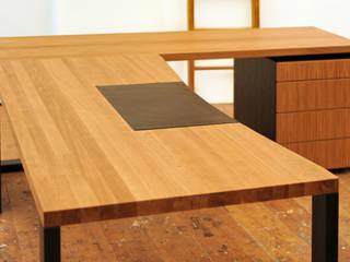 Schreibtisch Eiche massiv geölt von Daniel Renken Möbelmanufaktur Minimalistisch