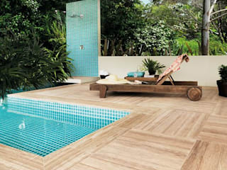 Piscina in stile tropicale di Portobello Shop Bauru Tropicale
