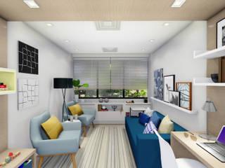 Consultório de Psicologia na Barra da Tijuca Escritórios modernos por JS Interiores Moderno