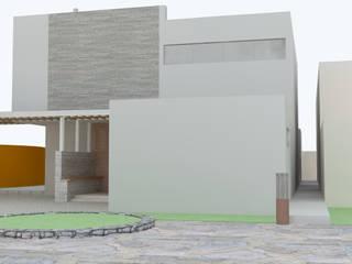 FACHADA ORIENTE: Casas de estilo  por HERNANDEZ ARQUITECTOS