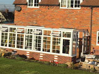 Construction of Conservatory from Pre-Glazed Panels:  Conservatory by Premier Conservatories & Windows