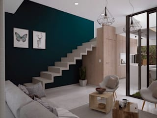 Living room by FERAARQUITECTOS, Minimalist