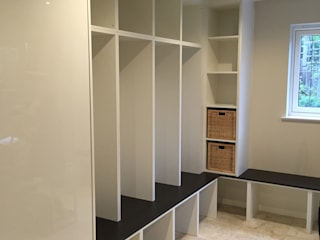 Bespoke Boot room Modern kitchen by Designer Vision and Sound: Bespoke Cabinet Making Modern