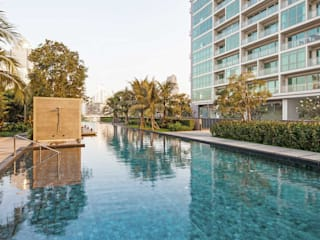 The River HB Design Pte Ltd Asian style pool