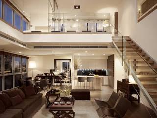 The River HB Design Pte Ltd Asian style living room