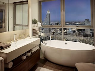 The River HB Design Pte Ltd Asian style bathroom