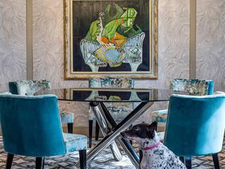 A Sassy Sensation Modern dining room by Design Intervention Modern
