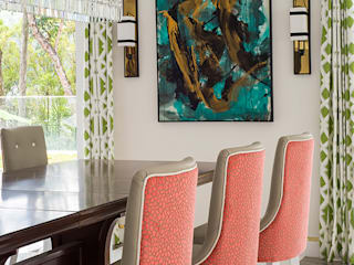 Modern Chinoiserie Home Modern dining room by Design Intervention Modern