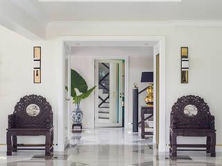 Modern Chinoiserie Home Modern corridor, hallway & stairs by Design Intervention Modern