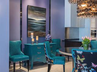 Lavander Luxe Modern dining room by Design Intervention Modern