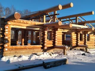 Русское шале Дома в стиле кантри от Тимберлог Timberlog Кантри