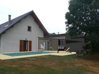 Création d'un POOL HOUSE: Maisons de style  par A2Ba Architecte