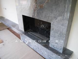 Портал для БИОкамина из натурального мрамора.: Столовые комнаты в . Автор – Amistone - камень в интерьере,