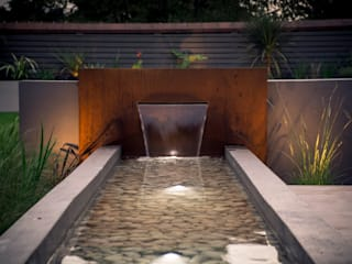 A contemporary industrial garden Robert Hughes Garden Design Garden Swim baths & ponds