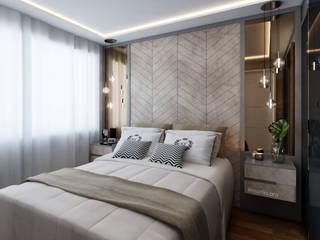 Marilia Zimmermann Arquitetura e Interiores Scandinavian style bedroom Copper/Bronze/Brass Brown