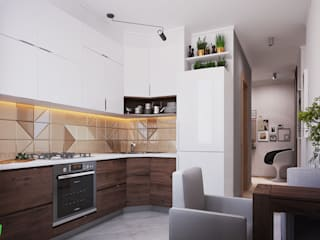 Scandinavian style kitchen by Polygon arch&des Scandinavian