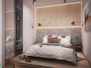Bedroom Scandinavian style bedroom by Polygon arch&des Scandinavian