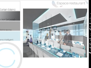 Architecture d'intérieur - Restaurant : Restaurants de style  par Crhome Design