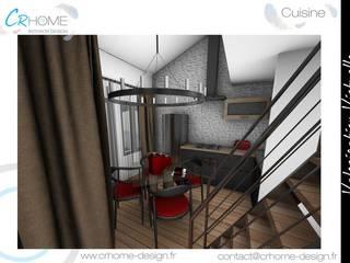 Valorisation Virtuelle - Appartement en station: Cuisine de style  par Crhome Design