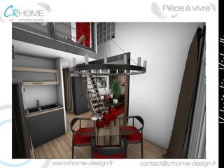 Valorisation Virtuelle - Appartement en station: Salle à manger de style  par Crhome Design
