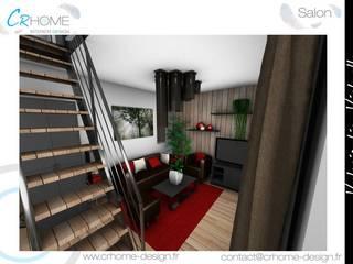 Valorisation Virtuelle - Appartement en station: Salon de style  par Crhome Design