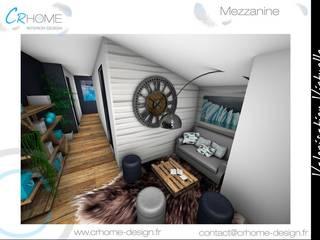 Valorisation Virtuelle - Espace nuit : Couloir et hall d'entrée de style  par Crhome Design