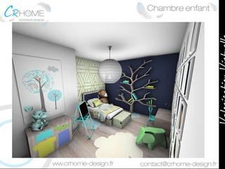 Valorisation Virtuelle - Espace nuit : Chambre d'enfant de style  par Crhome Design