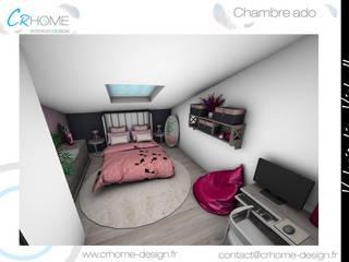 Valorisation Virtuelle - Espace nuit : Chambre de style  par Crhome Design