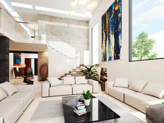 Diseño de  interiores y propuesta de mobiliario.: Salas de estilo  por HZH Arquitectura & Diseño