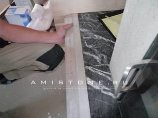 Установка консоли для камина:  в . Автор – Amistone - камень в интерьере