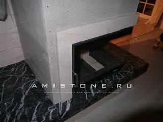 Собранная мраморная облицовка:  в . Автор – Amistone - камень в интерьере