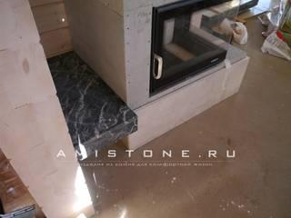 Процесс установки кансоли:  в . Автор – Amistone - камень в интерьере