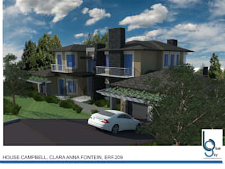 HOUSE CAMPBELL - DURBANVILLE, CLARA ANNA FONTEIN. New 515sqm house for this stunning estate.:   by BLUE SKY Architecture