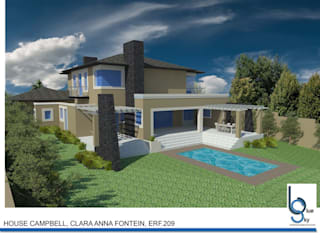 HOUSE CAMPBELL - DURBANVILLE, CLARA ANNA FONTEIN. New 515sqm house for this stunning estate. by BLUE SKY Architecture