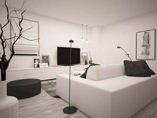 LA LOGGIA HOUSE: Soggiorno in stile  di LAB16 architettura&design, Minimalista