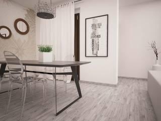 LA LOGGIA HOUSE: Sala da pranzo in stile  di LAB16 architettura&design, Minimalista